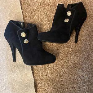 Guess - High Heel Suede Black Booties